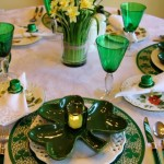 St. Patrick's Day Table Setting with Shamrock Plates
