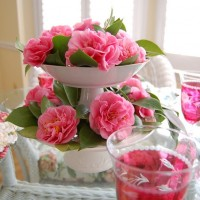 Debutante Camellias in a Springtime Tablescape
