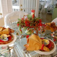 A Country Rooster Table Setting