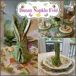 Bunny Rabbit Napkin Fold: Great for Easter or a Springtime Tablescape