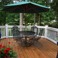 A New Market Umbrella for the Deck