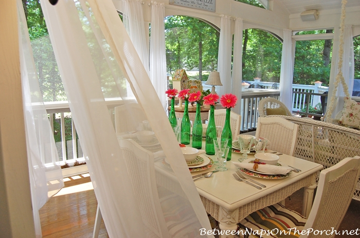 Add Sheers or Curtains to Porch for Movement