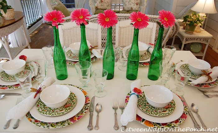 Spring Table Setting, Kim Parker Emma's Garden Chargers & Salad Plates