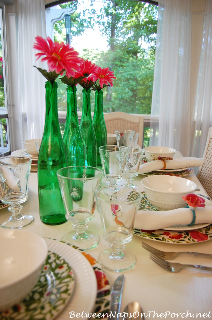 spring summer table setting tablescape with emma's garland