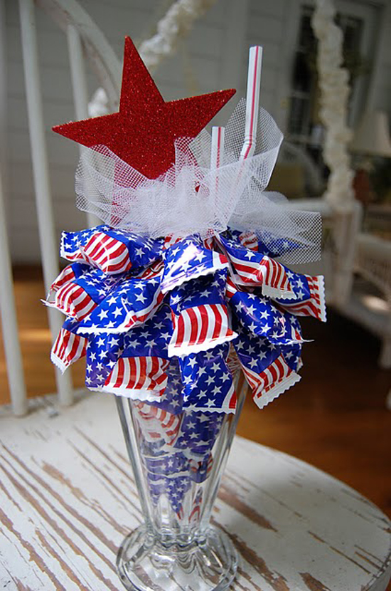 4th of July Sundae Craft Party Favor
