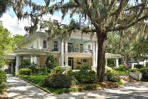 Savannah Home with Haint Blue Porch Ceiling