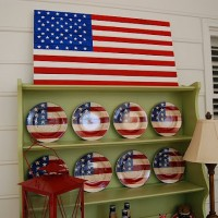 Pottery Barn Knock-off: Make a Wood Flag for Patriotic Holidays