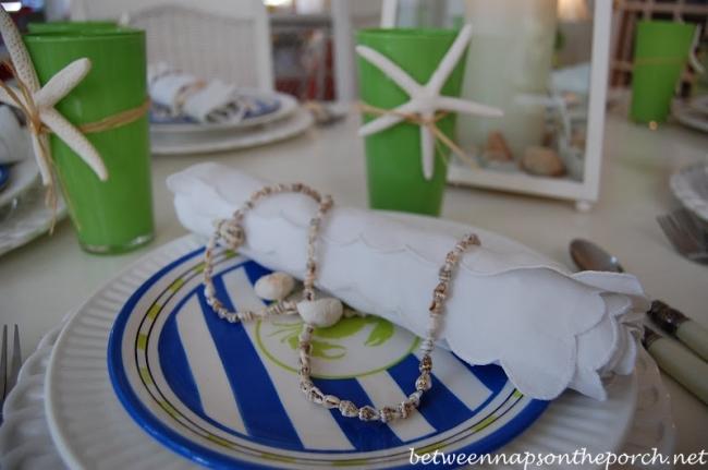 Beach Coastal Table Setting Tablescape