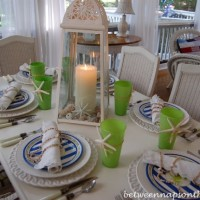 Coastal Summer Table Setting