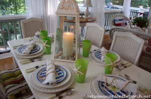 Beach Coastal Table Setting Tablescape