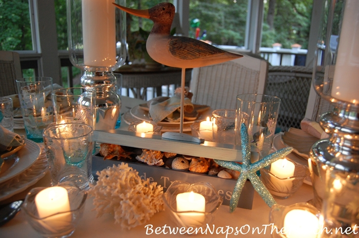Candlelit Nautical, Beach Themed Table 4