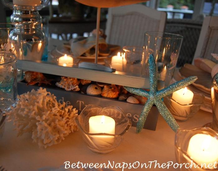 Candlelit Nautical, Beach Themed Table 5