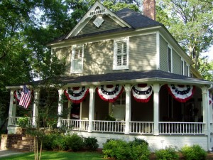 Home Decorated for the 4th of July