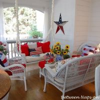 Patriotic Porch for 4th of July