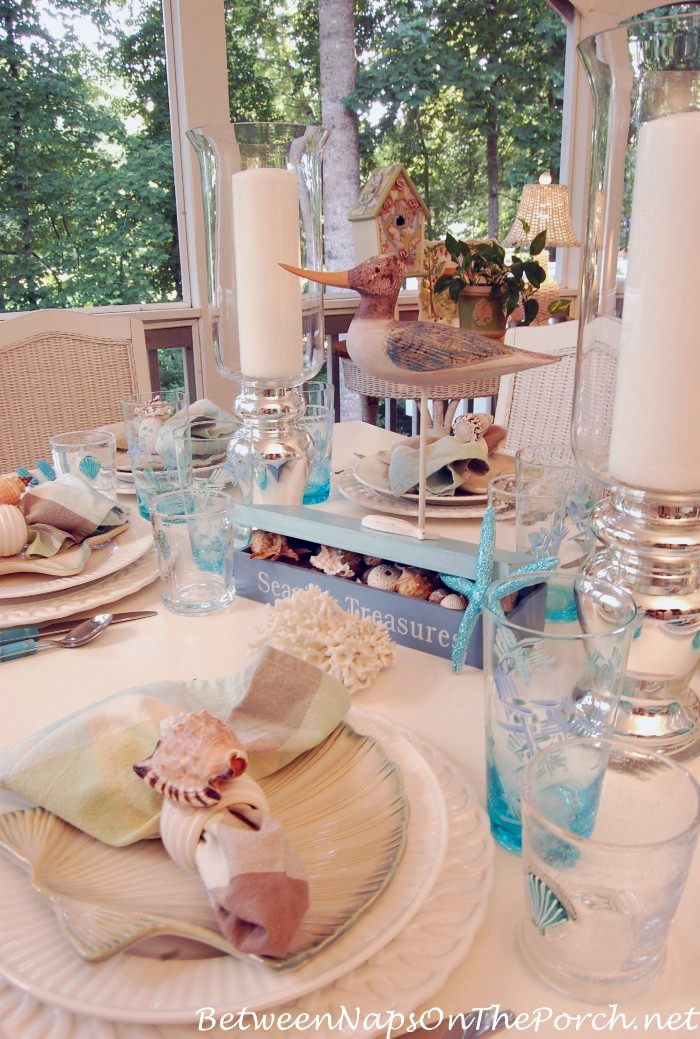 Seaside Table Setting, Porch Dining
