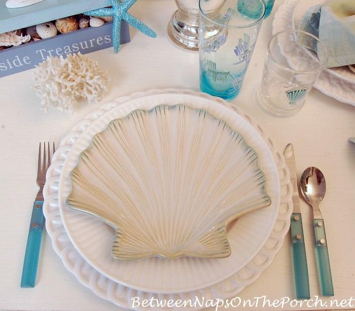 Shell Salad Plates, Beach Table Setting