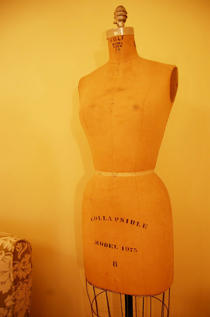 Vintage Dress Form in Craft Sewing Room