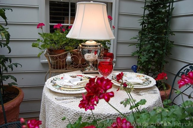 Romantic Table Setting Tablescape for Two