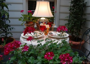 Garden Table for Two Outdoors