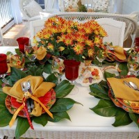 A Colorful Autumn Table Setting