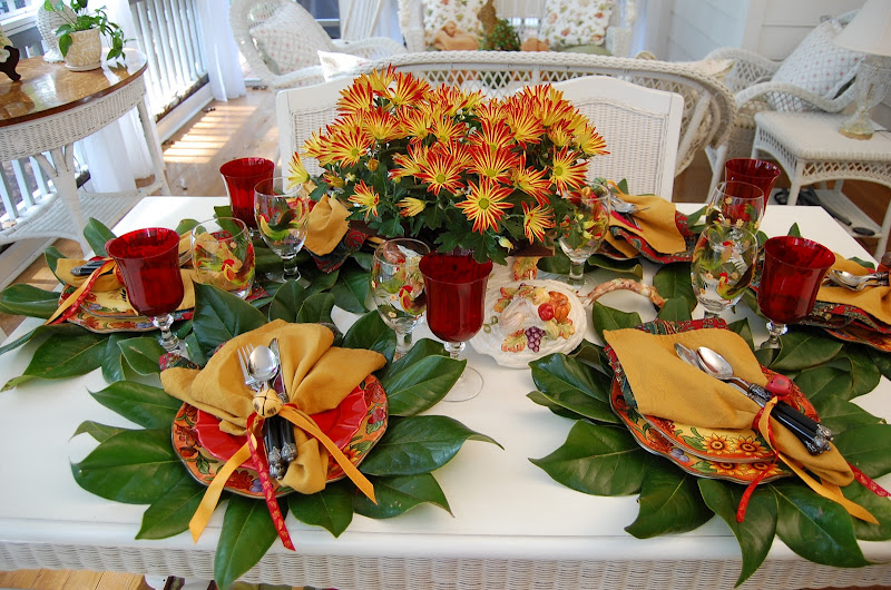 & A Colorful Autumn Table Setting