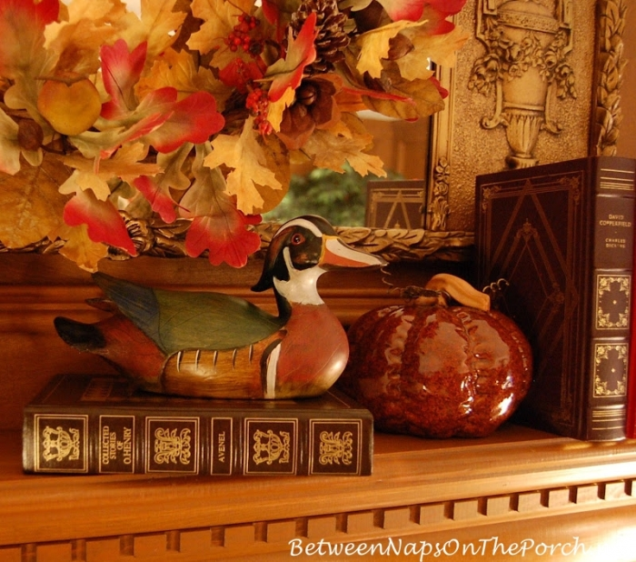 Autumn Mantle Ideas for an English Country Living Room
