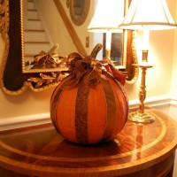 Decorate Your Pumpkin with Ribbon for Halloween