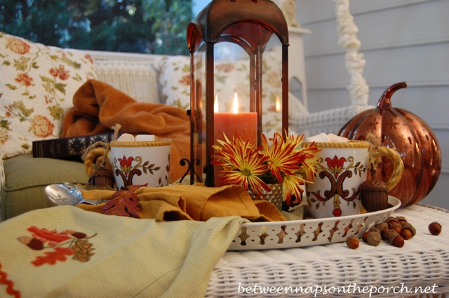 Decorating with Acorns in a Fall Table Setting