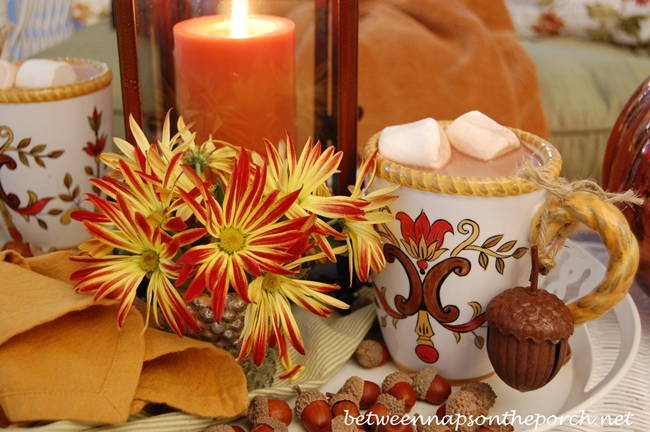 Fall Table with Acorns