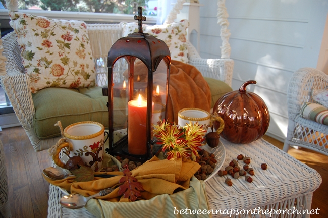 Fall Tablescape with Hot Chocolate on a Fall Porch 3