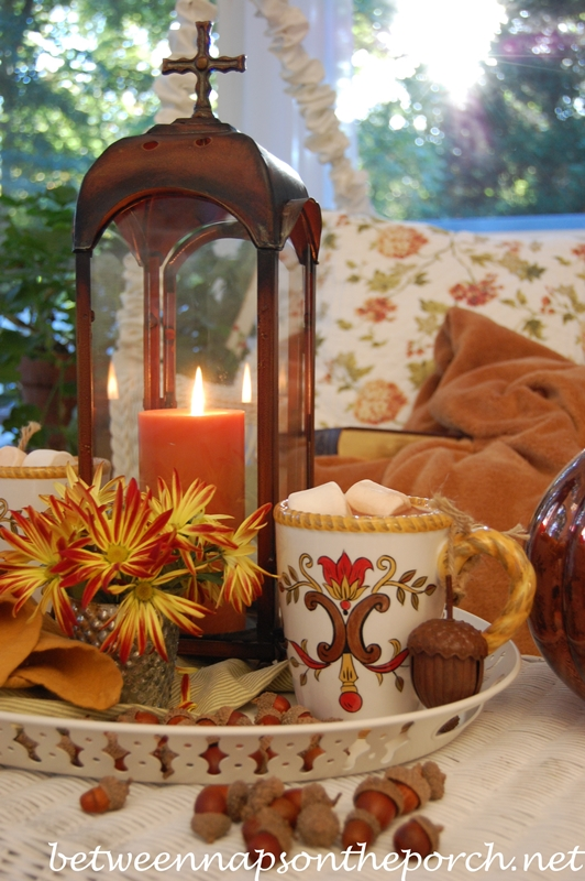 Hot Chocolate Table Setting Tablescape for Fall 3