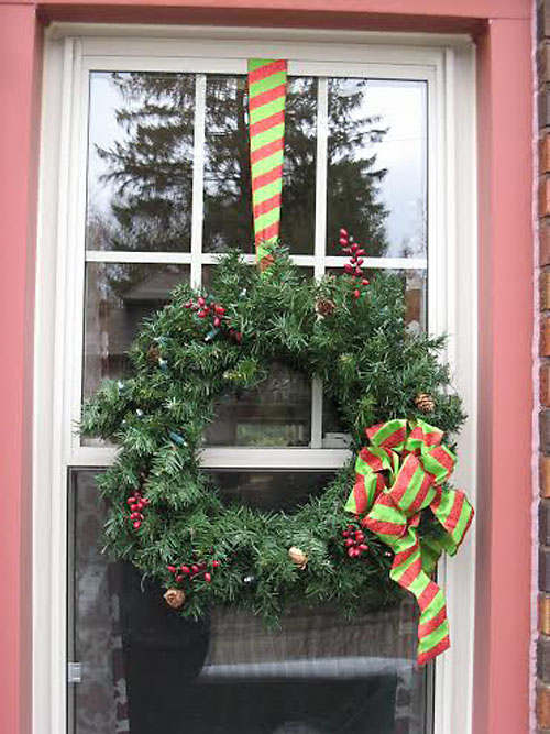 Hang Wreaths on Windows