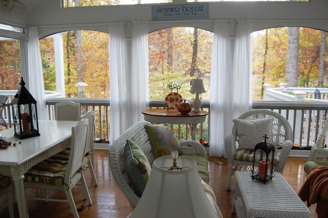 Screened Porch in Fall