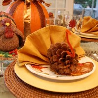 Thanksgiving Turkey Napkin Fold Tutorial
