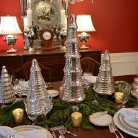 A Mercury-Glass Christmas Tree Table Setting