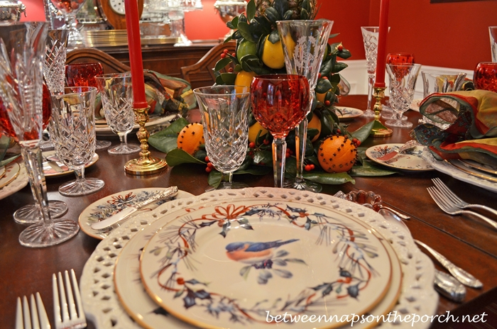 Christmas Table Setting with Waterford Crystal_wm