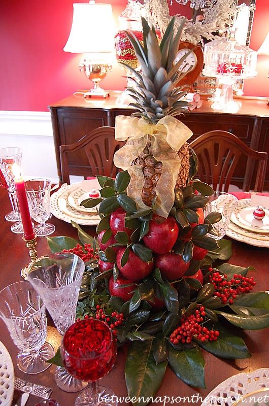 Colonial Williamsburg Christmas Table Setting With A Lemon