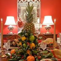 Christmas Tablescape with a Lemon & Lime Centerpiece