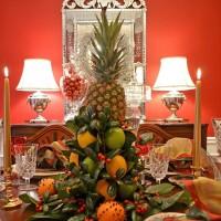 Christmas Tablescape with a Lemon & Lime Centerpiece