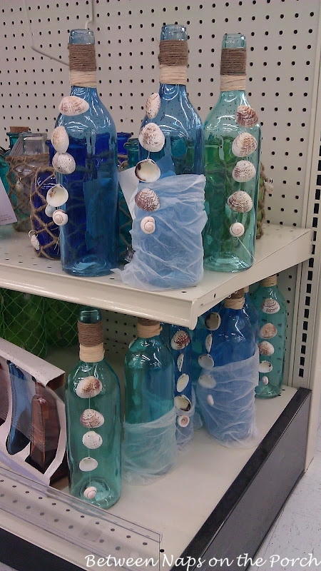 Bottle decorated with Shells