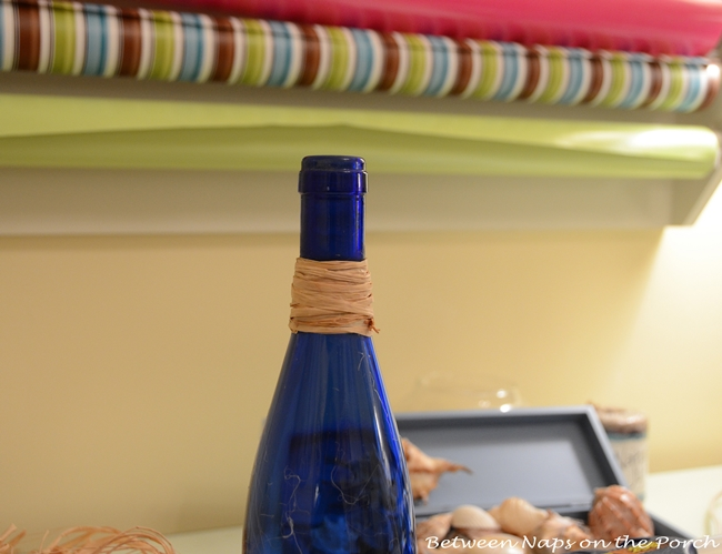 Decorate Bottles with Starfish, Shells and Rafia 4