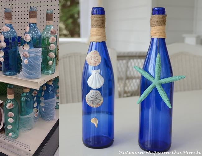 Decorate Bottles with Starfish, Shells and Rafia 6