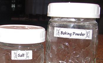 Jar labels with frames