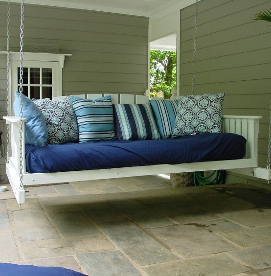 Porch Swing Designed for Naps and Sleeping