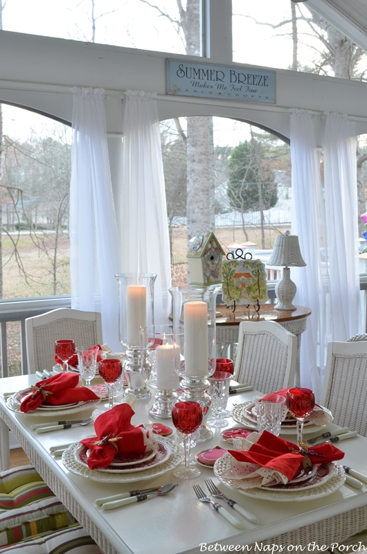 Valentine's Day Table Setting Tablescape with Spode Copeland