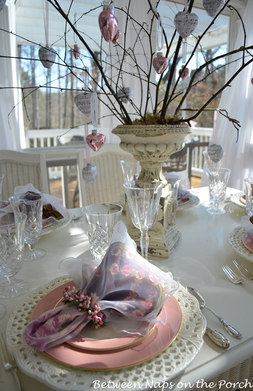 Valentine's Day or Mother's Day Table Setting 01