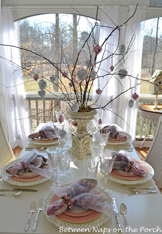 Valentine's Day or Mother's Day Table Setting