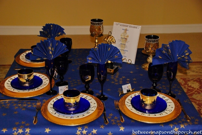Academy Awards Party Table Setting 04