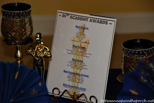 Academy Awards Party Table Setting 05