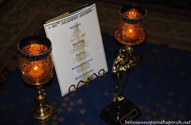 Academy Awards Party Table Setting 11